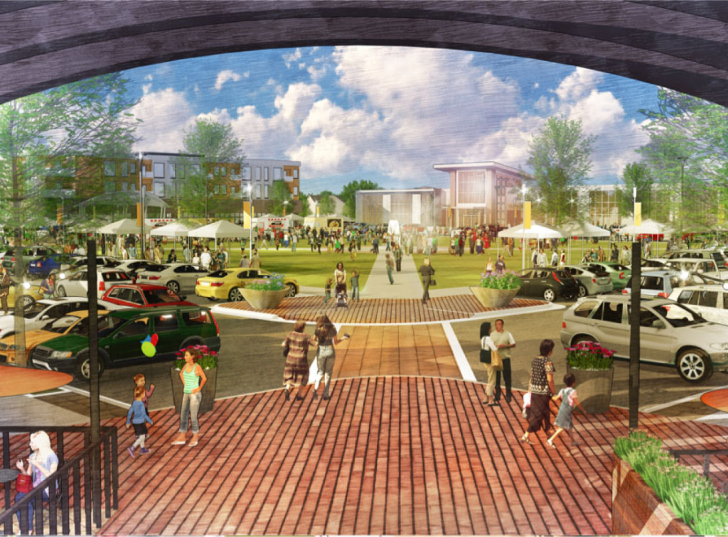 Rendering of the town center