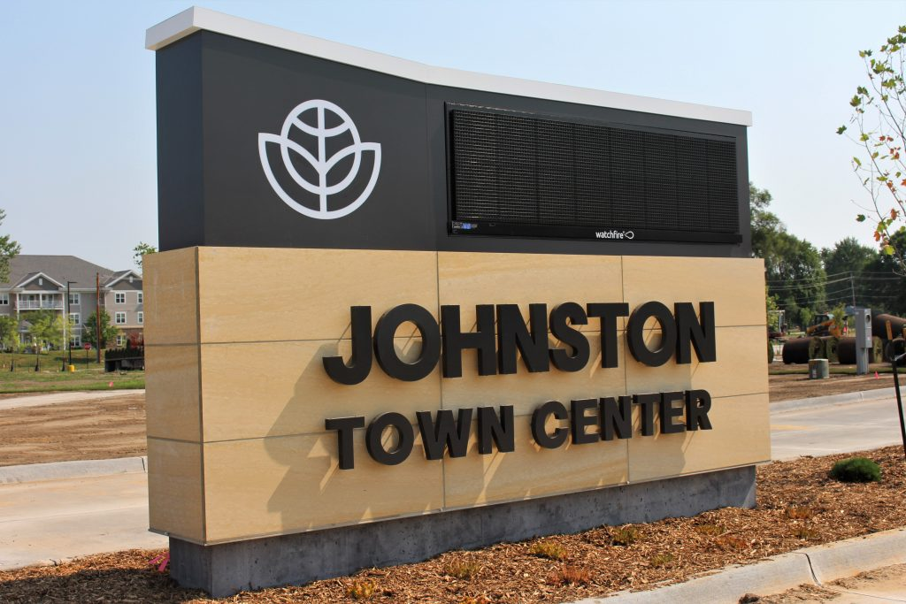 Johnston Town Center Sign